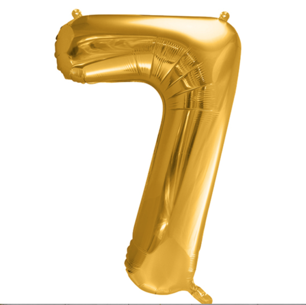 Zahlenballon 7