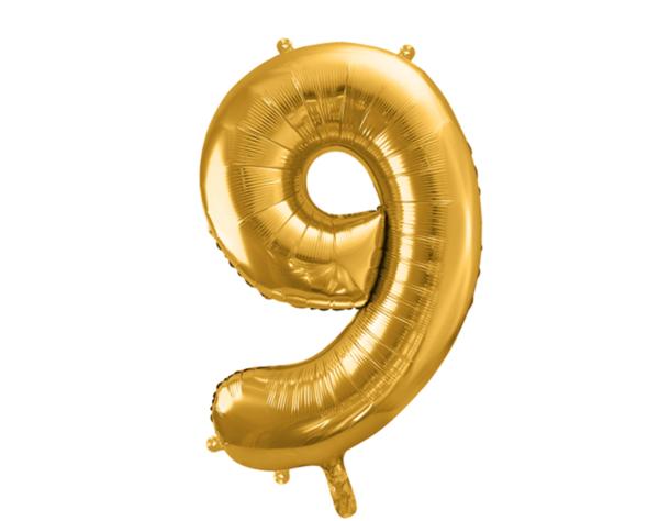 Zahlenballon 9