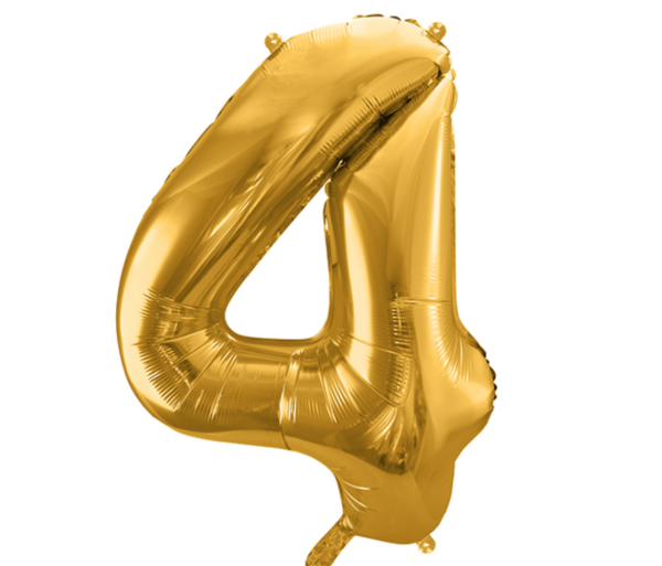 Zahlenballon 4