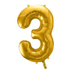 Zahlenballon 3