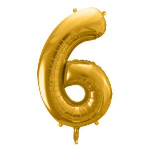Zahlenballon 6