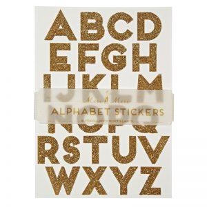 ABC Sticker gold