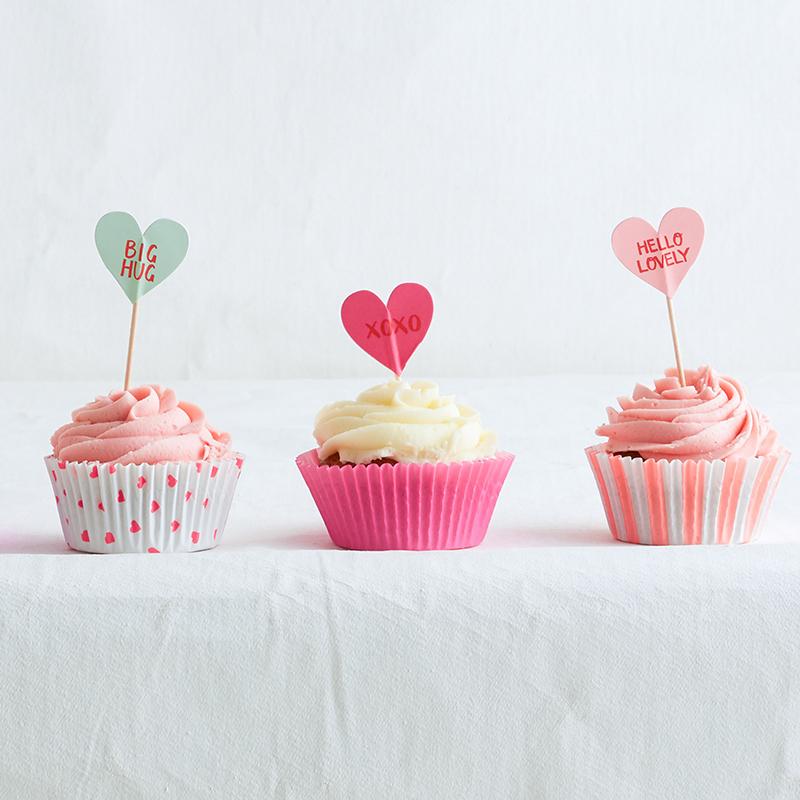 herz cupcake set valentinstag meri meri partymoments. Black Bedroom Furniture Sets. Home Design Ideas