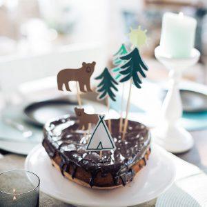 Camping Kuchen und Tortentopper
