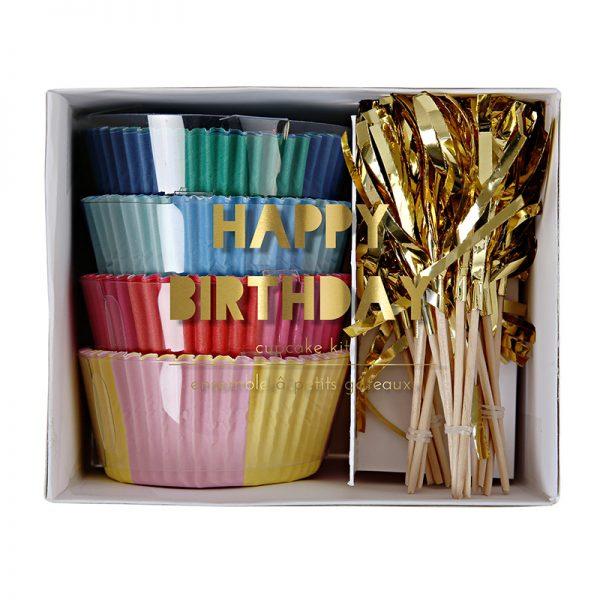 Geburtstag Cupcake Set
