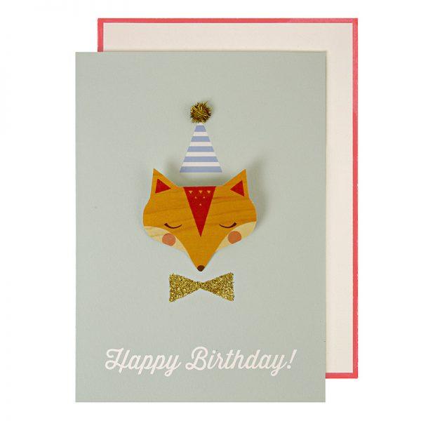 Fuchs Glückwunschkarte