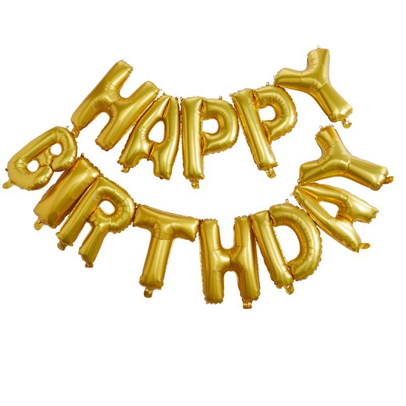 Happy Birthday Ballon Girlande