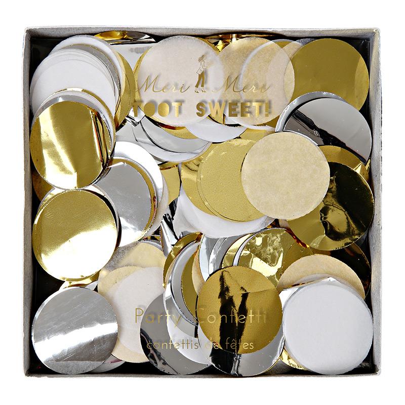Konfetti gold silber