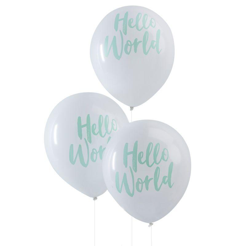 Hello World Luftballons