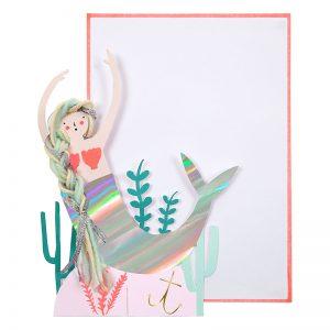 Meerjungfrau Glückwunschkarte