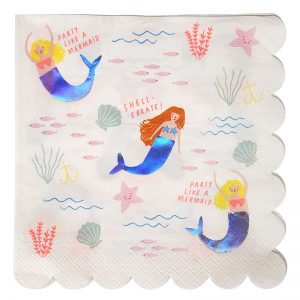 Meerjungfrau Servietten