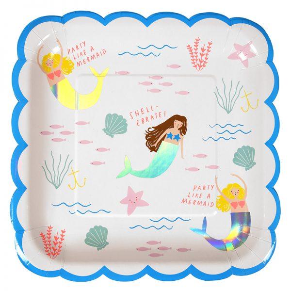 Meerjungfrau Teller