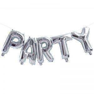 Party Ballon silber