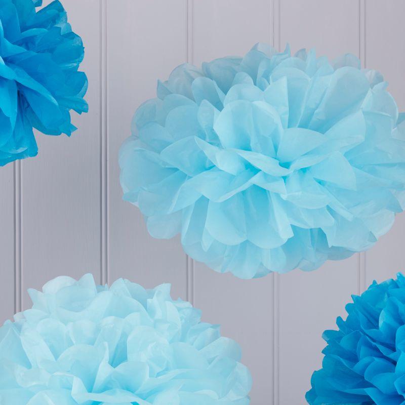 Pom Poms blau