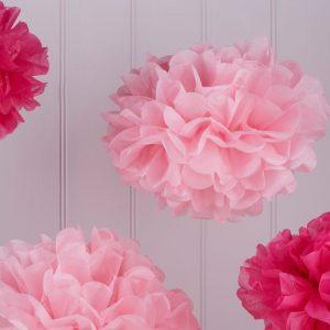 Pom Poms rosa und pink