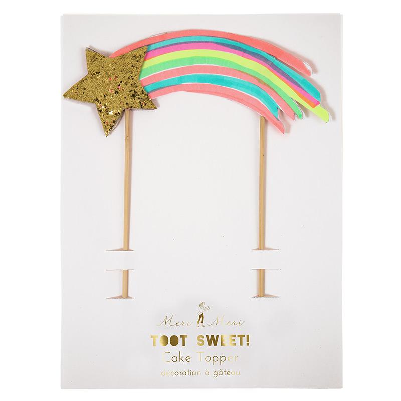 Regenbogen Kuchen Topper