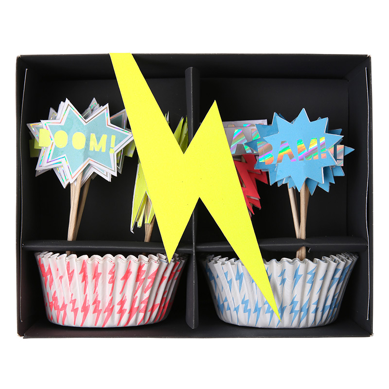 Superheld Cupcake Set