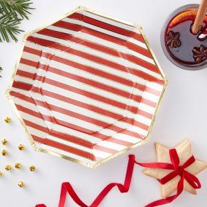 Weihnachtsteller rot gold