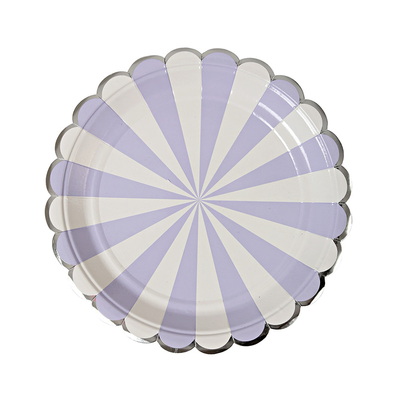 Teller lila gestreift