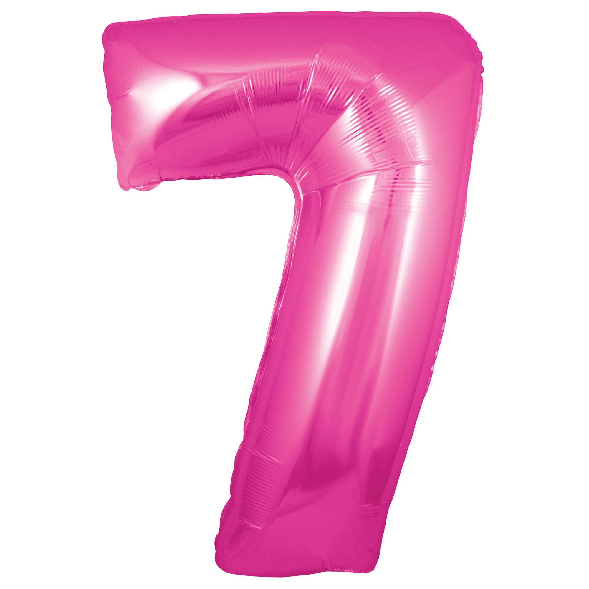 Zahlenballon 7 pink