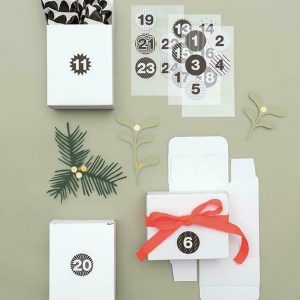 Adventkalender Boxen weiß