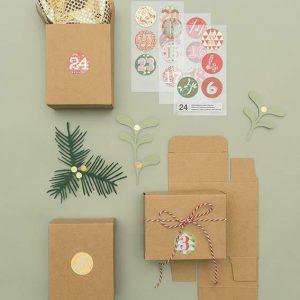 Adventkalender Boxen braun
