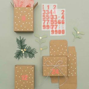 Adventkalender Boxen braun gold