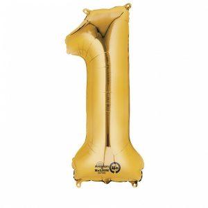 Zahlenballon 1 gold