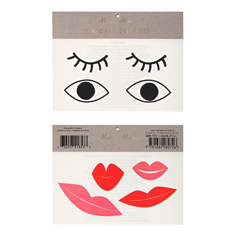 Augen und Lippen Tattoos