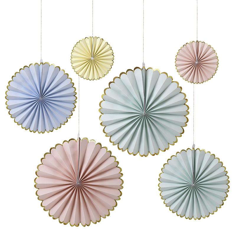 Papierfächer pastell