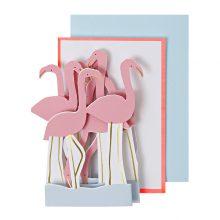 Flamingo Karten Aufsteller
