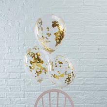 Konfetti Ballons gold