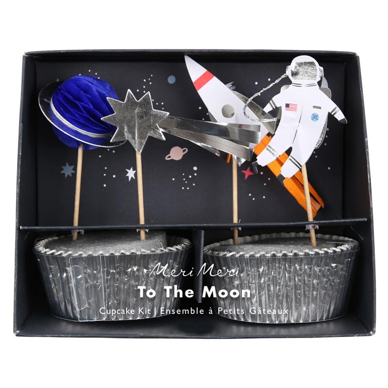 Weltraum Cupcakeset