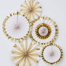 Papierfächer gold