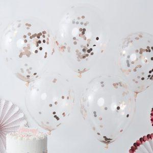 Konfetti Ballons rosegold