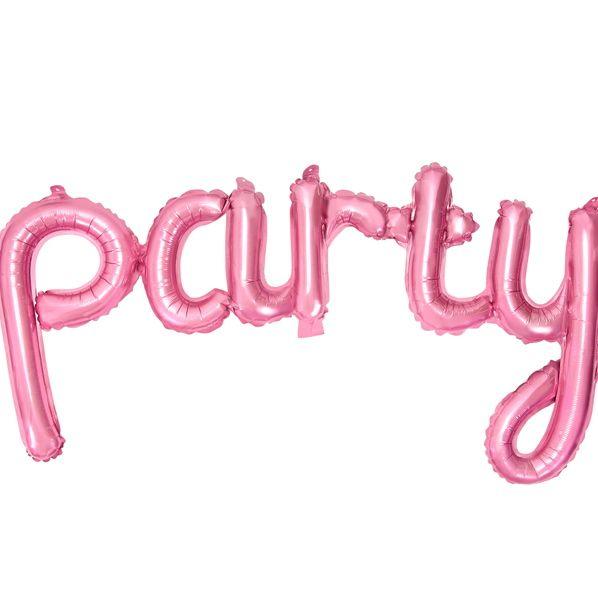 party ballon pink