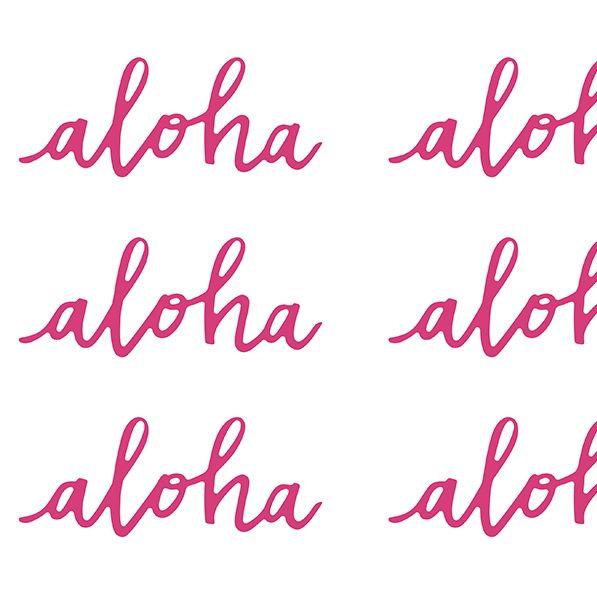 Aloha Tischdeko