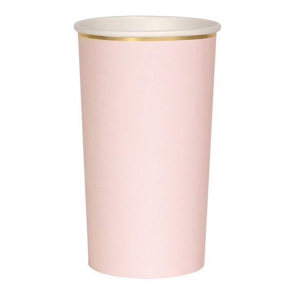 Becher rosa gold