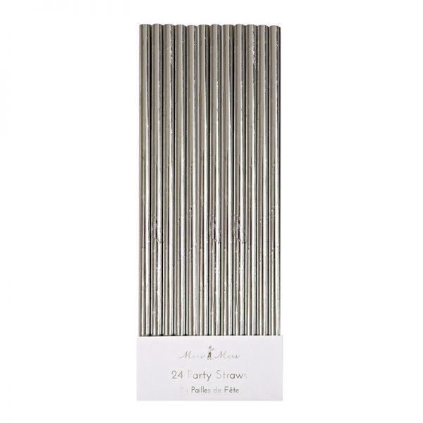 Strohhalme silber