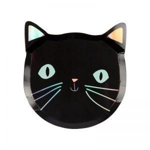 Halloween Katzen Teller