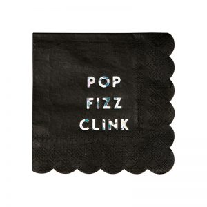 Pop Fizz Clink Cocktail Servietten