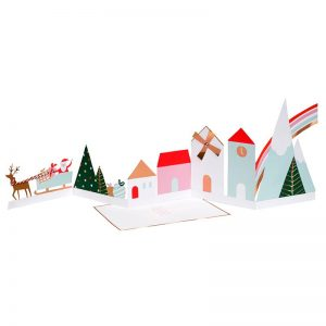 Glückwunschkarte Weihnachtsdorf