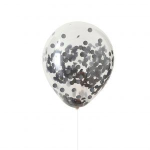 Konfetti Ballons schwarz