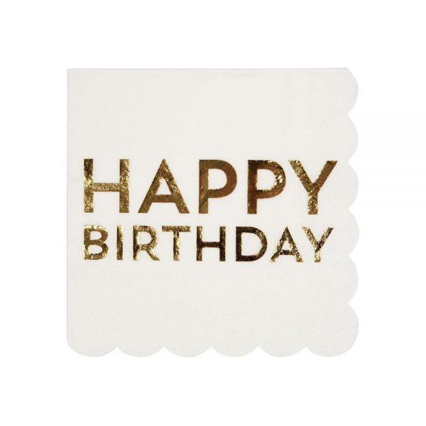 Servietten Happy Birthday