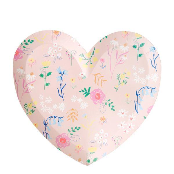 Herz Teller Blumen