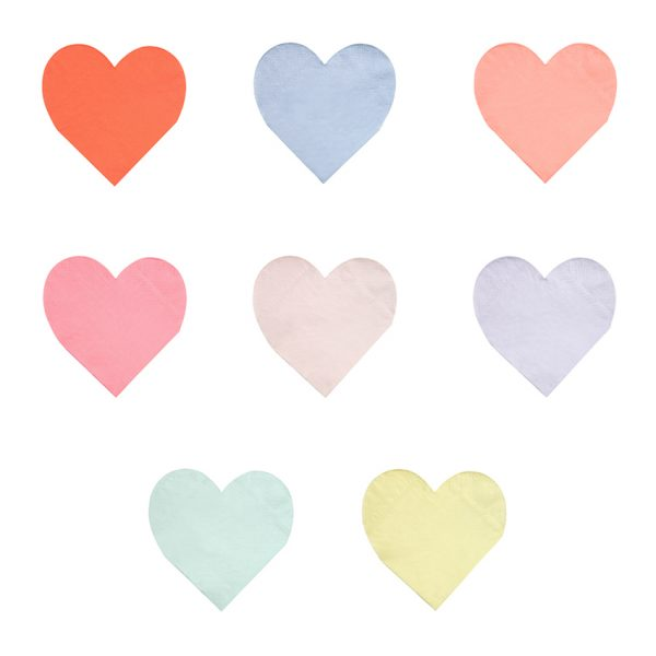 Herz Servietten