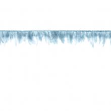 Federgirlande blau