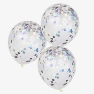 Konfetti Ballons schimmernd