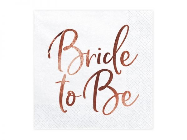 Servietten bride to be rosegold