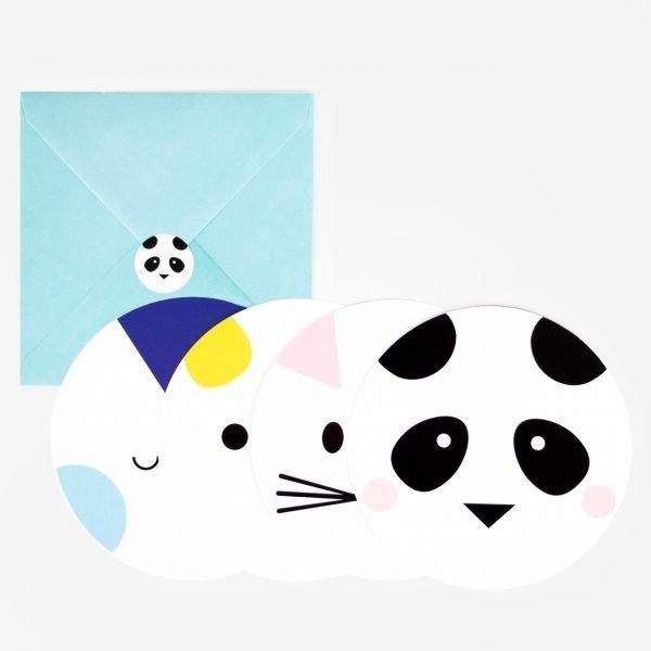 Panda Einladungen